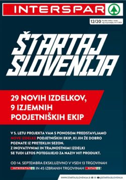 Interspar katalog Štartaj Slovenija do 6. 10.