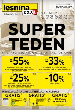 Lesnina katalog Super teden do 26. 9.