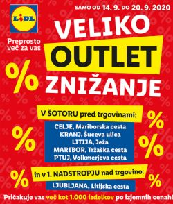 Lidl katalog Veliko outlet znižanje do 20. 9.