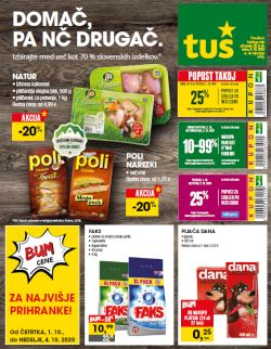 Tuš katalog trgovine in franšize do 6. 10.