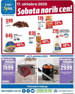 Eurospin sobota norih cen 17. 10.