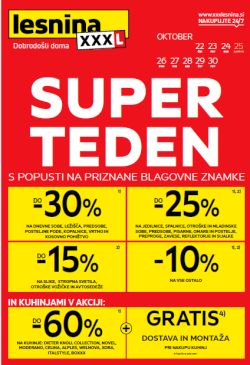 Lesnina katalog Super teden do 30. 10.