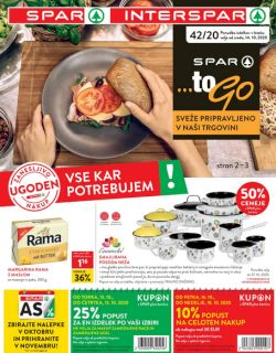 Spar in Interspar katalog do 27. 10.