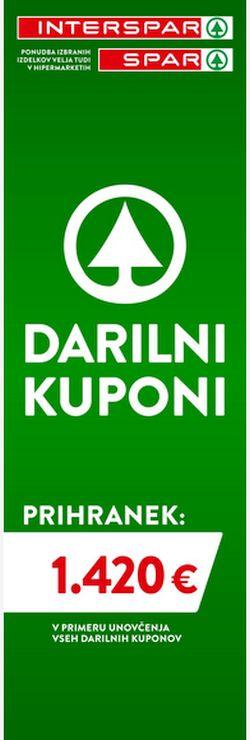 Spar in Interspar Darilni kuponi 07/2020
