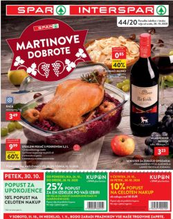 Spar in Interspar katalog do 10. 11.