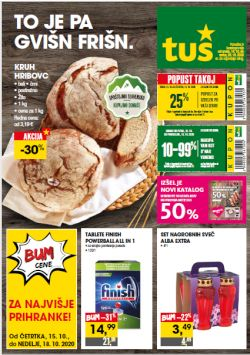 Tuš katalog trgovine in franšize do 20. 10.