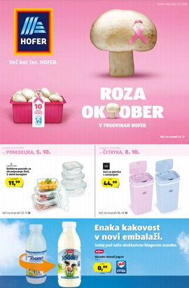 Hofer katalog od 5.10.