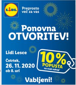 Lidl katalog Ponovna otvoritev Lesce 26. 11.