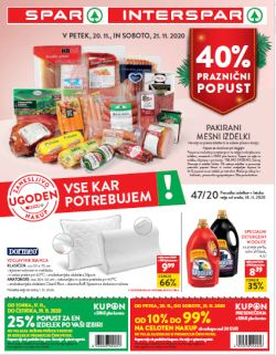 Spar in Interspar katalog do 1. 12.