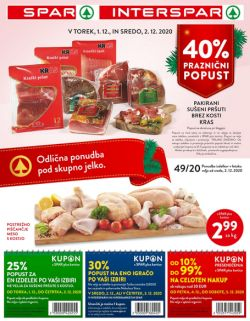 Spar in Interspar katalog do 8. 12.