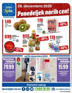 Eurospin akcija Ponedeljek norih cen 28. 12.