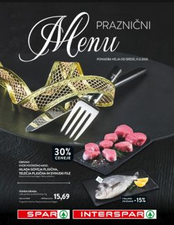 Spar in Interspar katalog Praznični menu do 31. 12.