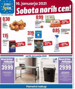Eurospin akcija Sobota norih cen 16. 1.