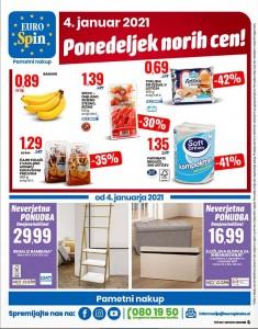 Eurospin akcija Ponedeljek norih cen 4. 1.