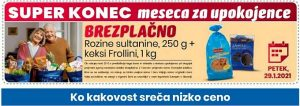 Eurospin akcija za upokojence 29. 1.