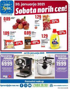 Eurospin akcija Sobota norih cen 30. 1.