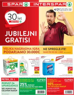 Spar in Interspar katalog do 9. 2.