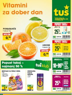 Tuš katalog trgovine in franšize do 26. 1.