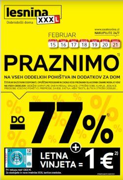 Lesnina katalog Praznimo, pohitite do 21. 2.