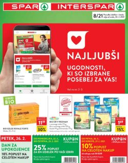 Spar in Interspar katalog do 2. 3.