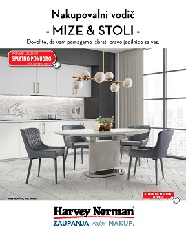Harvey Norman katalog Mize in stoli