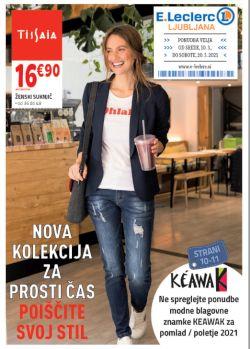 E Leclerc katalog Ljubljana Nova kolekcija za prosti čas