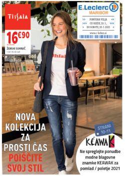 E Leclerc katalog Maribor Nova kolekcija za prosti čas