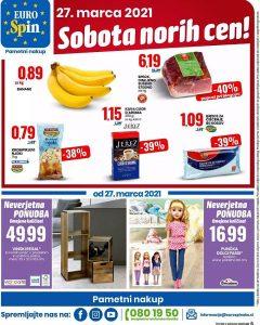 Eurospin sobota norih cen 27. 3.