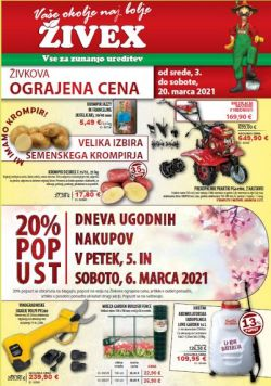 Živex katalog do 20. 3.