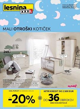 Lesnina katalog Mali otroški kotiček marec 2021