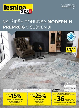Lesnina katalog Moderne preproge