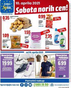 Eurospin akcija Sobota norih cen 10. 4.