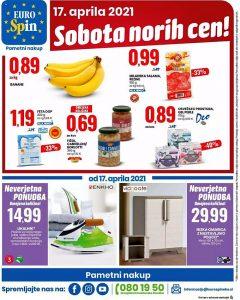 Eurospin akcija Sobota norih cen 17. 4.