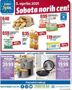 Eurospin akcija Sobota norih cen 3. 4.