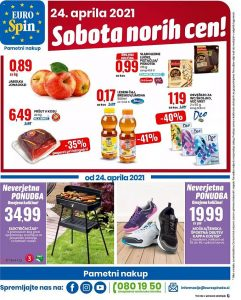 Eurospin akcija Sobota norih cen 24. 4.