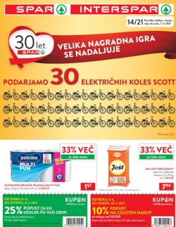 Spar in Interspar katalog do 20. 4.