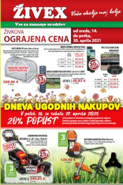 Živex katalog do 30. 4.
