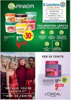 E Leclerc katalog Kozmetika Ljubljana do 15. 5.