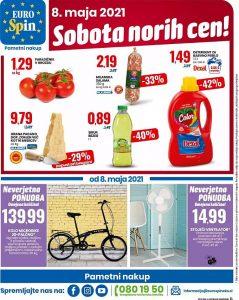 Eurospin akcija Sobota norih cen 8. 5.
