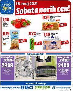 Eurospin akcija Sobota norih cen 15. 5.