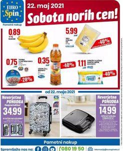 Eurospin akcija Sobota norih cen 22. 5.