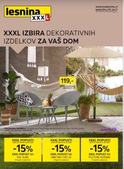 Lesnina katalog XXL izbira dekorativnih izdelkov