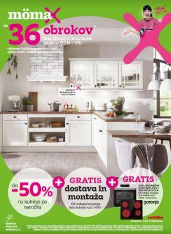 Momax katalog Do – 50 % na kuhinje po naročilu