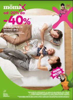 Momax katalog – 40 % na vzmetnice in letvena dna