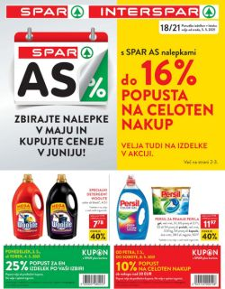 Spar in Interspar katalog do 18. 5.