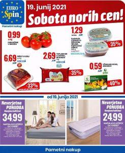 Eurospin akcija Sobota norih cen 19. 6.