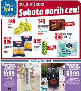 Eurospin akcija Sobota norih cen 26. 6.