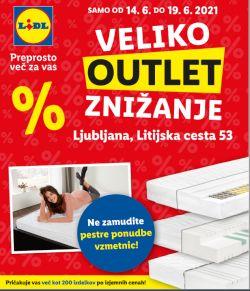 Lidl katalog Veliko Outlet znižanje Ljubljana Litijska