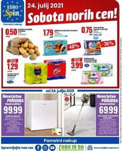 Eurospin akcija Sobota norih cen 24. 7.