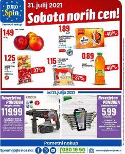 Eurospin akcija Sobota norih cen 31. 7.